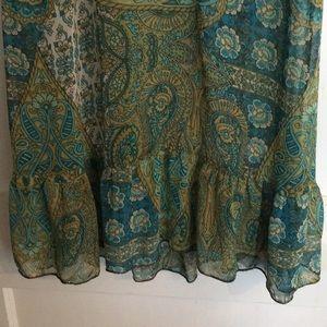 6 degrees Dresses - 6Degrees sheer chiffon cap sleeved mini dress